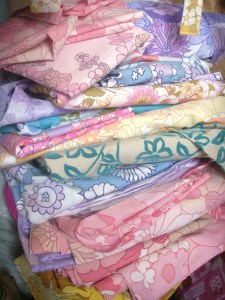 pile of recycled fabric